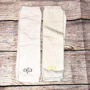 White and Cream Baby Leg Warmers